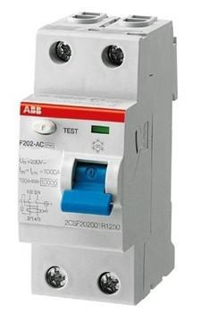 Дифф.выкл УЗО ABB 300мА F202 АС-63/0,3 2-полюсный - фото 4188