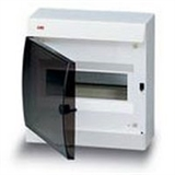 Щиток накладной(черн.дверь) IP41 ABB 8 модулей Unibox