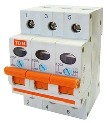 Выключатель нагрузки (мини-рубильник) ВН-32 3P 40A TDM - фото 4917