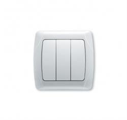 Выключатель 3-х клавишный (бел.) Viko Carmen - фото 5028