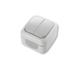 Выключатель 2-х клавишный Viko Palmiye - фото 5105