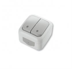 Выключатель 2-х клавишный проходной Viko Palmiye - фото 5107