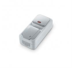 Вертикальный Выключатель 1-клавишный с подсветкой+Розетка с заземлением Viko Palmiye - фото 5118