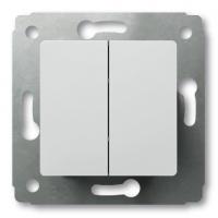 Выключатель 2-х клавишный 10А (Белый) Legrand Cariva 773658 - фото 5185
