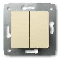 Выключатель 2-х клавишный 10А (слон.кость) Legrand Cariva 773758 - фото 5187
