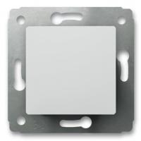 Выключатель 1-клавишный ,кнопочный 10А (Белый) Legrand Cariva 773611 - фото 5189