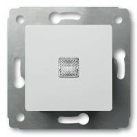 Кнопка с подсветкой 10А (Белая) Legrand Cariva 773613 - фото 5193