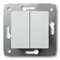 Переключатель 2-х клавиш. на 2 направ. 10А (Белый) Legrand Cariva 773608 - фото 5198