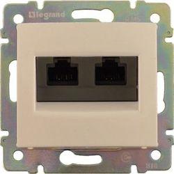 Розетка двойная компьютерная с захват. RJ45х2 Legrand Valena (Сл.кость) 774131 - фото 5217