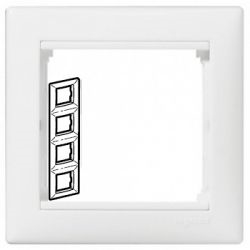 Рамка 4 поста вертикальная Legrand Valena (Белая) 774458 - фото 5266