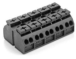 Клемма Wago четырехпроводные 862-0505 (5 подключений) - фото 5454