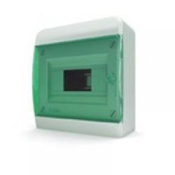 Щиток накладной(зелён.дверь) IP40 TEKFOR 8 модулей BNZ - фото 5467