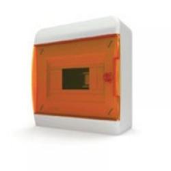 Щиток накладной(оранж.дверь) IP40 TEKFOR 8 модулей BNO - фото 5468