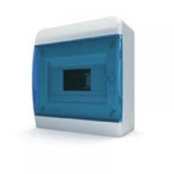 Щиток накладной(син.дверь) IP40 TEKFOR 8 модулей BNS - фото 5469