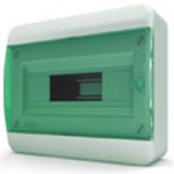 Щиток накладной(зелён.дверь) IP40 TEKFOR 12 модулей BNZ - фото 5474