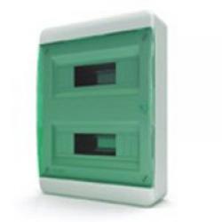 Щиток накладной(зелён.дверь) IP40 TEKFOR 24 модуля BNZ - фото 5485