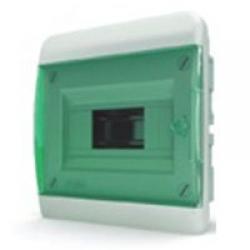 Щиток встраиваемый(зелён.дверь) IP40 TEKFOR 8 модулей BVZ - фото 5513