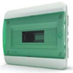Щиток встраиваемый(зелён.дверь) IP40 TEKFOR 12 модулей BVZ - фото 5521