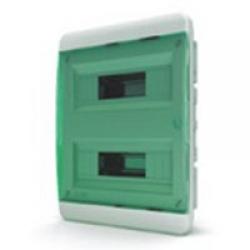 Щиток встраиваемый(зелён.дверь) IP40 TEKFOR 24 модуля BVZ - фото 5526
