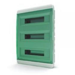Щиток встраиваемый(зелён.дверь) IP40 TEKFOR 54 модуля BVZ - фото 5539