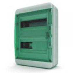 Щиток накладной герметич.(зелен.дверь) IP65 TEKFOR 24 модуля BNZ - фото 5550
