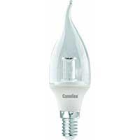 Лампа LED свеча на ветру 5.5Вт E14(аналог 50Вт) Camelion LED5.5-CW35-CL/830/E14 - фото 5759