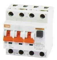 Автоматический Выключатель Дифференциального тока TDM АВДТ 63 4P C25 30мА - фото 7318