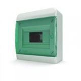 Щиток накладной(зелён.дверь) IP40 TEKFOR 8 модулей BNZ