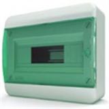 Щиток накладной(зелён.дверь) IP40 TEKFOR 12 модулей BNZ